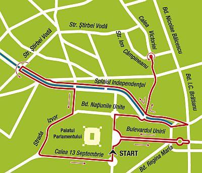 harta, maraton Bucuresti