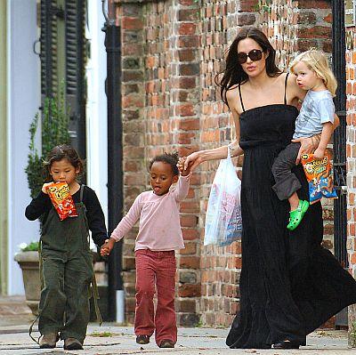 Angelina Jolie, Shiloh, Pax Thien, Zahara