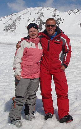 Luana Danet, Mario, instructor de schi Obergurgl